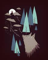 2 wolves by louisroskosch