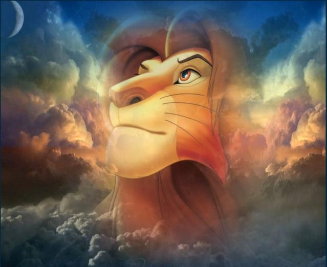 Lion King Mufasa In The Sky Of