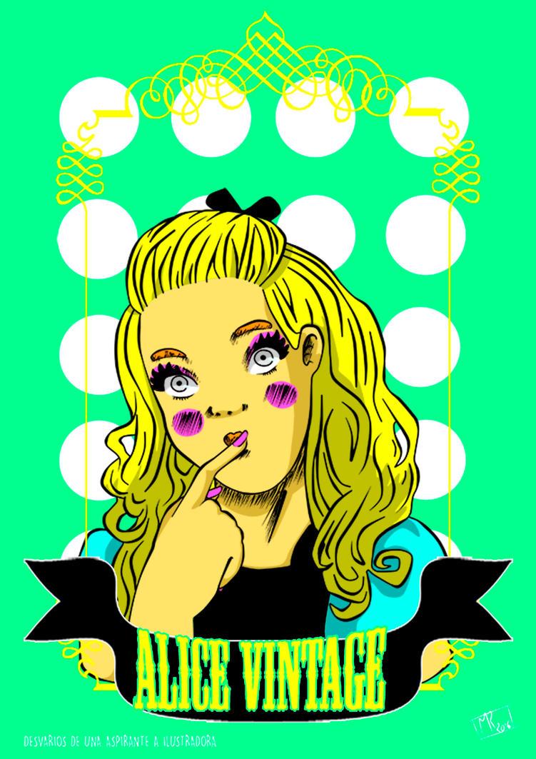 Alice Vintage Pop Art by MFurukawa