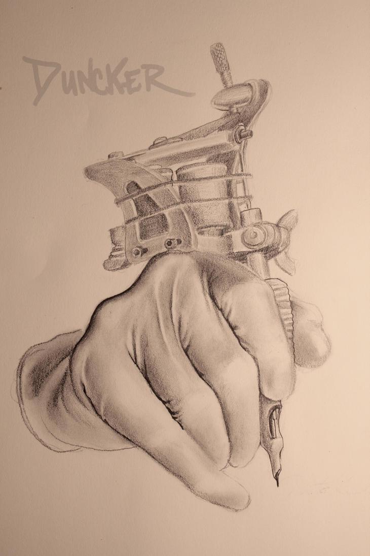 Tattoo Machine Line Drawing : Tattoo artist by xarcwelderx on deviantart