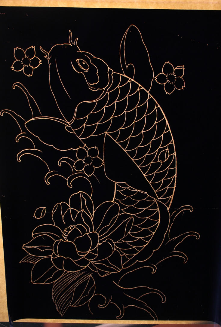 Koi stencils pictures to pin on pinterest tattooskid for Koi fish stencil