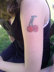 Cherry Tattoo (Not even real xD) by Mrs-Olympia