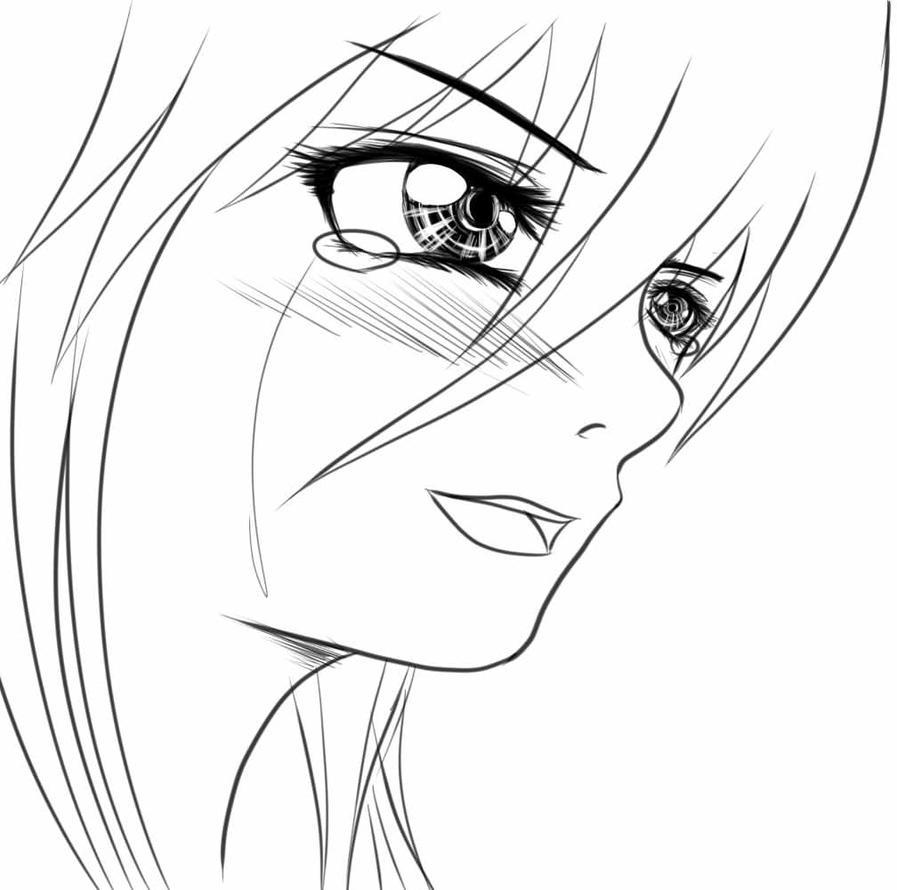 how to draw tears anime