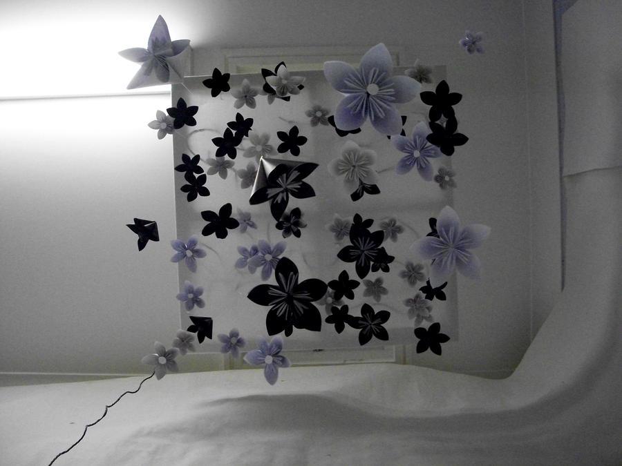 Origami flower mobileinstallation by axolotlj96 on deviantart origami flower mobileinstallation by axolotlj96 mightylinksfo