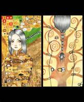 Tribute To Gustav Klimt by Beurkeek