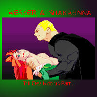 Wesker and Shakahnna by weskerian