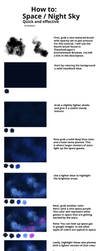How to: Space / Night Sky (under 5 minutes) by olivebates