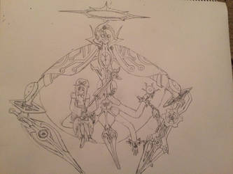 Yukari and Cursed Maker Egil (Rough Sketch) by NintendoBrother