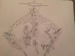 Yukari and Cursed Maker Egil (Rough Sketch)