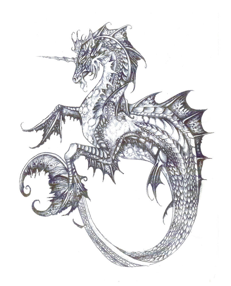Hippocampus by jessiesdragons on deviantart for Sea dragon tattoo