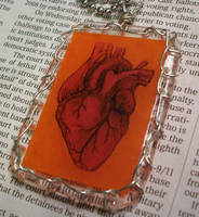 Anatomical Heart Pendant by resinated-etsy