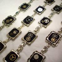 Steampunk Bracelets by resinated-etsy