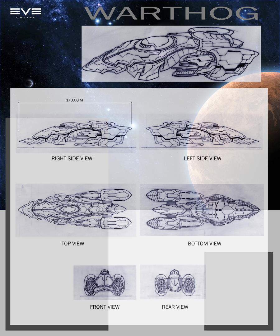 Warthog Transport Frigate by fritzykarl