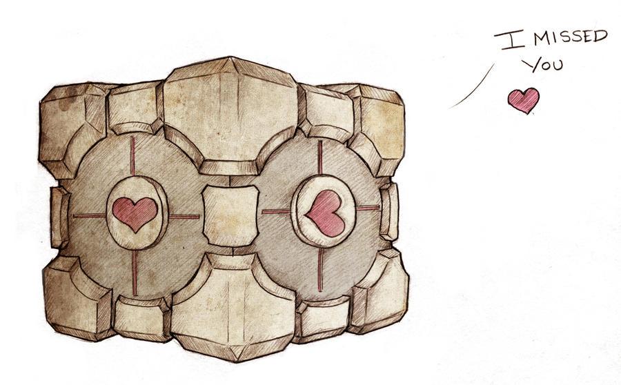 Companion cube reunion by Sukai-yume