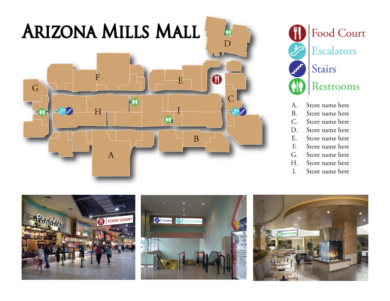 Arizona Mills Mall Map Arizona Mills Mall map by Jameron713 on DeviantArt