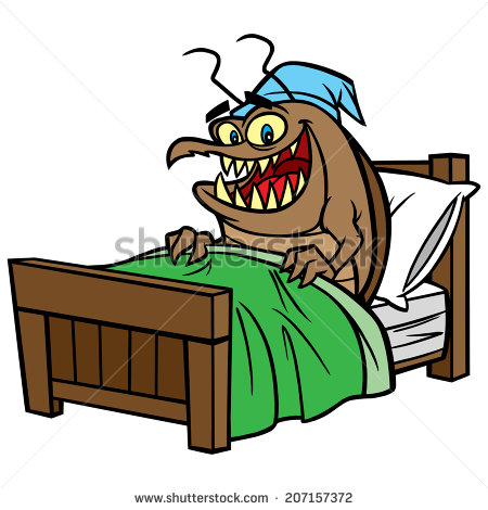 Stock-vector-bed-bug-in-bed-207157372 by Whetsit-Tuya