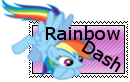 Rainbow Dash Stamp by IzzyNotACarrot