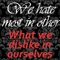 We hate most in others by HCross9820