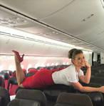 Pantyhose Flight Attendant