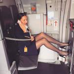 Beautiful Flight Attendant Pantyhose