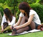 Asian Pantyhose Candids1