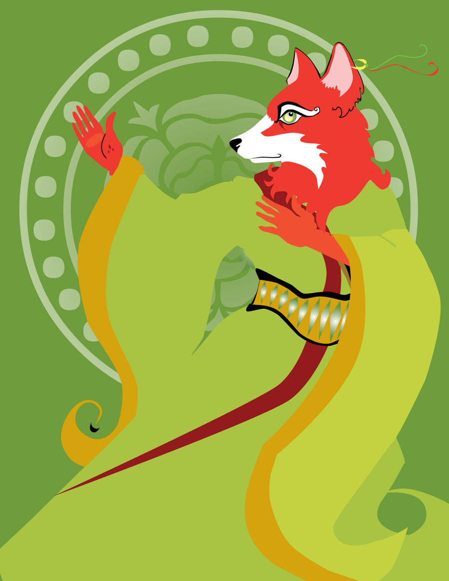 Fox Warrior Green by remdesigns