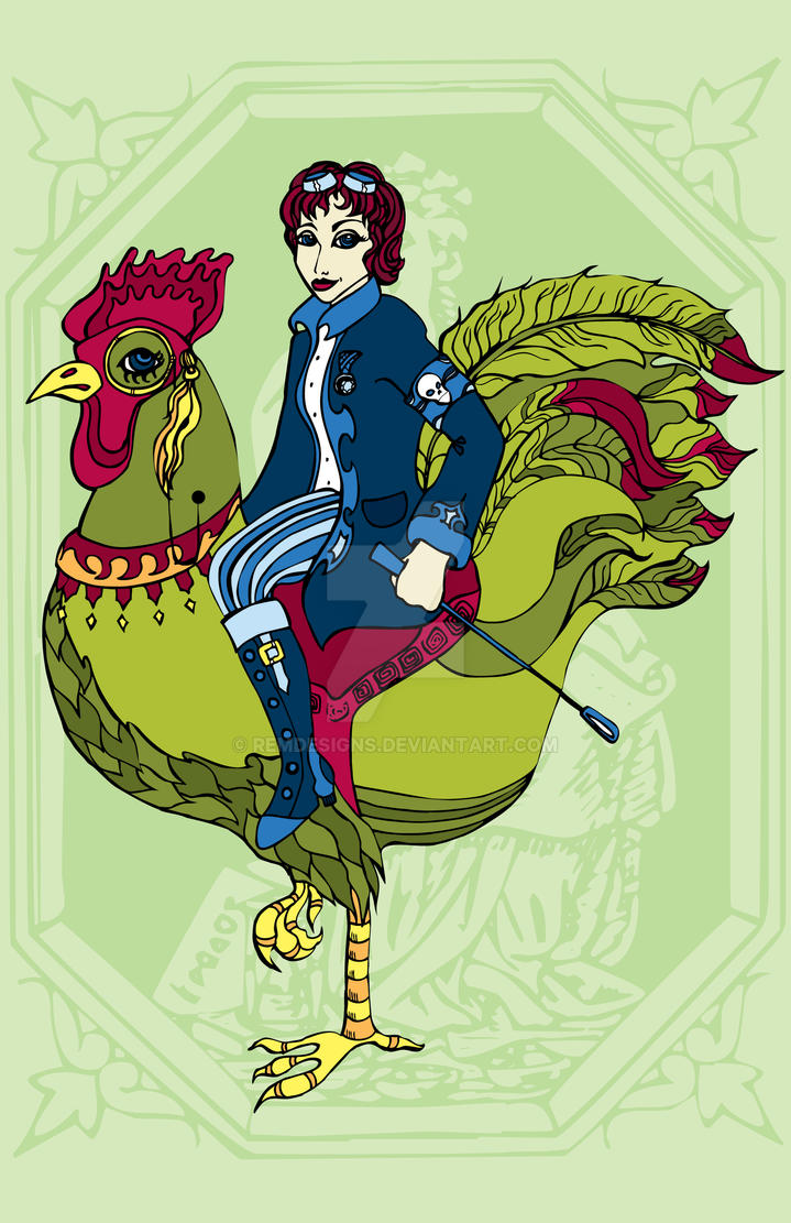 Riding a rooster by remdesigns