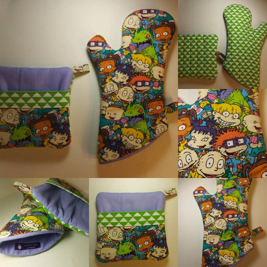 Rugrats Oven Mitt and Hot Pad Set by MechanicalApple