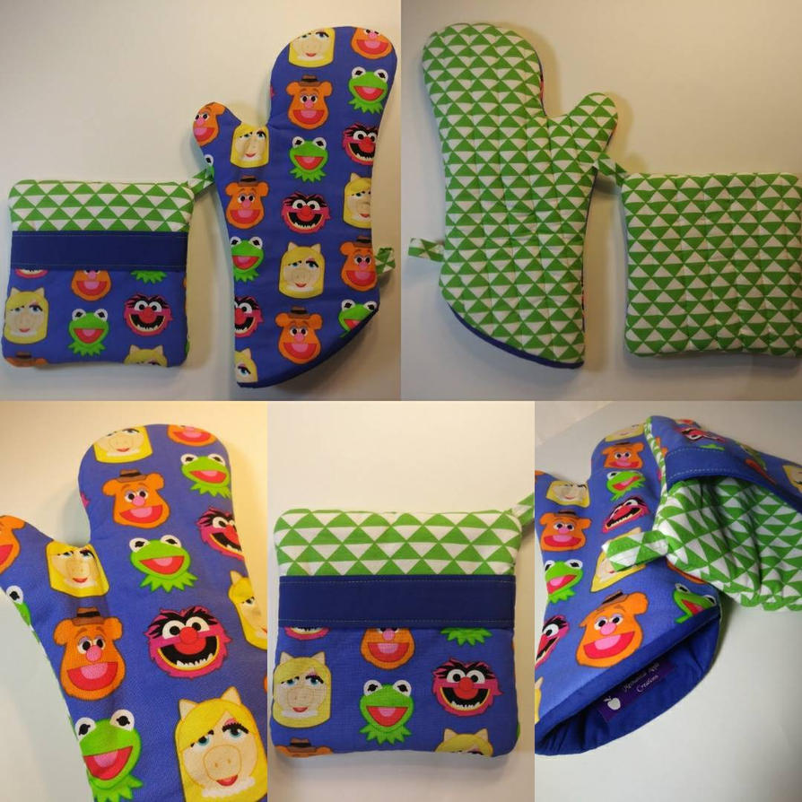 The Muppets Oven Mitt and Hot Pad Set by MechanicalApple