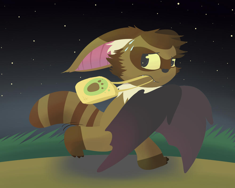 Batccoon? Batccoon! by asclepiusartist