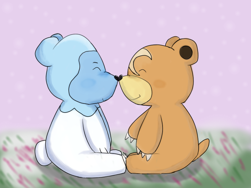 Pokemon Teddiursa And Cubchoo Teddiursa And Cubchoo by