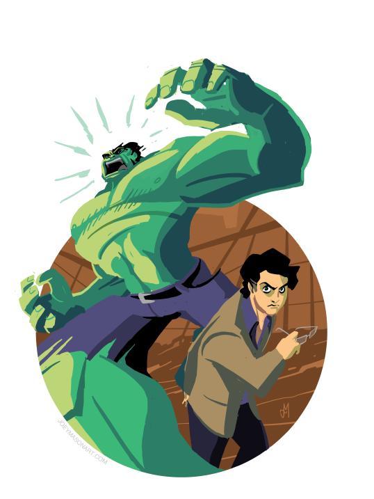 Hulkin' Out by joeymasonart