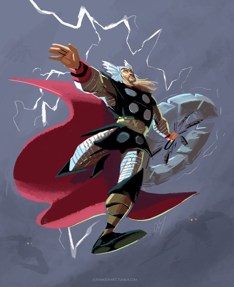 God of Thunder by joeymasonart