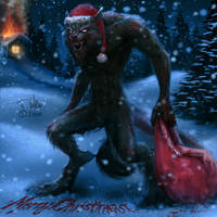 Santa's HUNGRY by dypsomaniart
