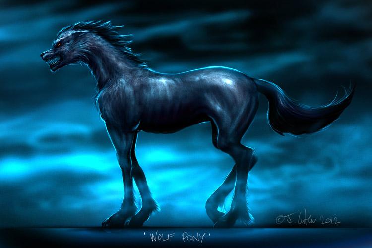 wolf pony by dypsomaniart
