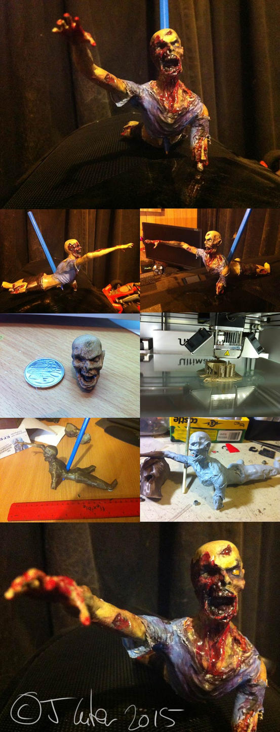 Jc-3d-zombie-pen-holder by dypsomaniart
