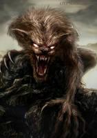 Werewolf by dypsomaniart