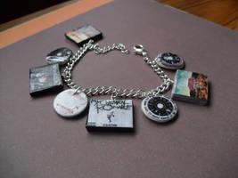 My Chemical Romance album charm bracelet by InsaneJellyBean95