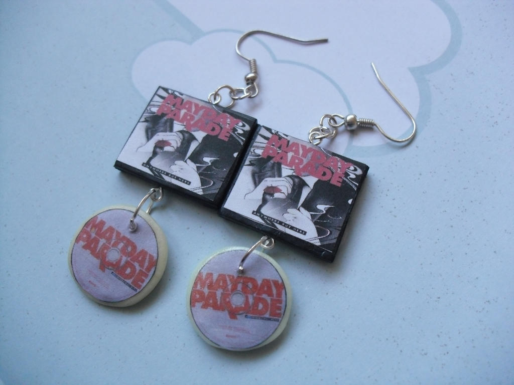 Mayday Parade Anywhere but here album earrings by ...