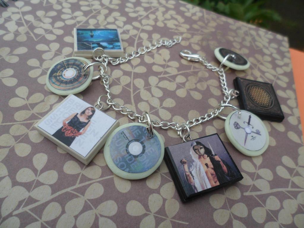 Bring Me The Horizon album charm bracelet/keychain by InsaneJellyBean95