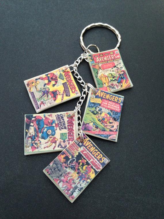The Avengers comic book keychain/bracelet by InsaneJellyBean95 on
