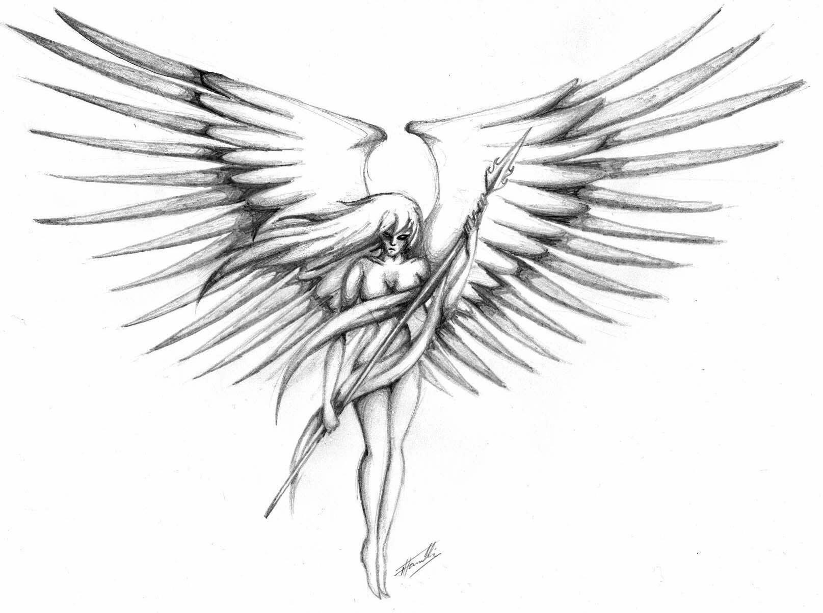 Female Guardian Angel Drawings Images & Pictures - Becuo