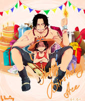 Happy Birthday Ace by Portgas-D-Hato