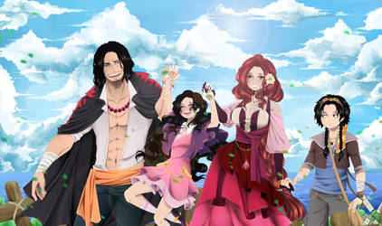 One Piece. Portgas D Family. by Portgas-D-Hato