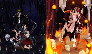 One Piece OC.AceHato\DaisukeRobin.Happy Halloween. by Portgas-D-Hato