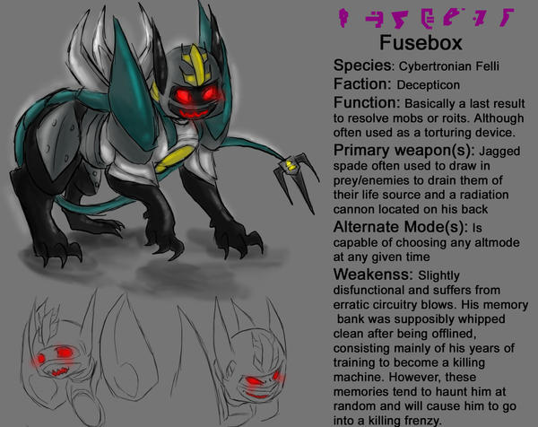 Fusebox Reference sheet by AccidentProneComics