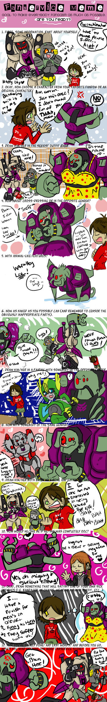 Lugnuts Fanservice Meme by AccidentProneComics