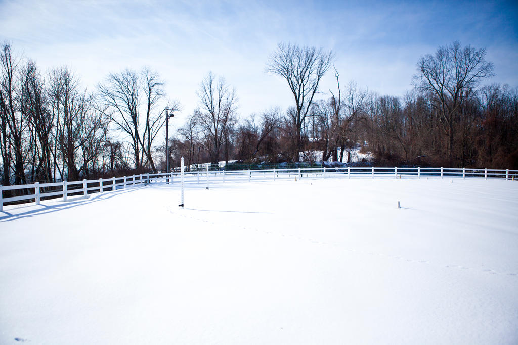 Beautiful Tristate Dressage Facility on snowy 2493