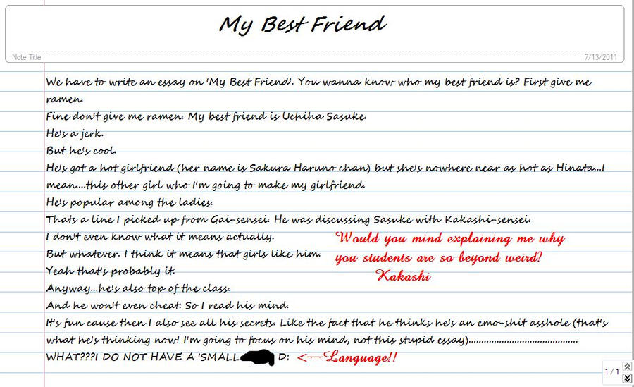 Friendship essay examples