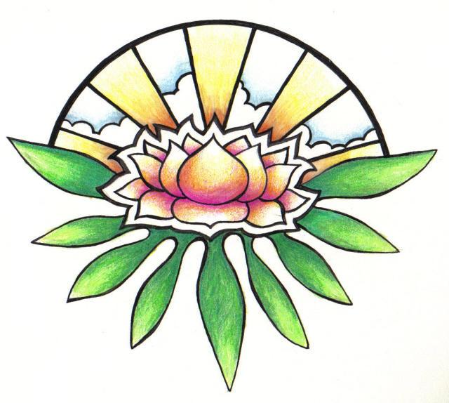 lotus rising tat - flower tattoo